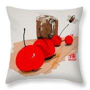 Cherry Time Throw Pillow