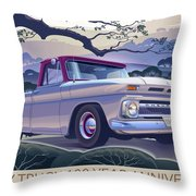 Chevy Truck Centennial 1964 Shortbed Custom Half Ton Throw Pillow
