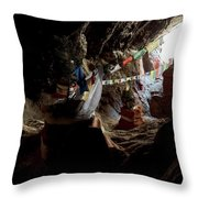 Chhungsi Cave From The Inside, Mustang Throw Pillow