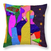 Chiang Mai Buddha Collage 3 Throw Pillow