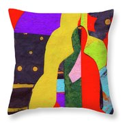 Chiang Mai Buddha Collage 5 Throw Pillow