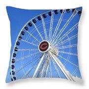 Chicago Centennial Ferris Wheel 2 Throw Pillow