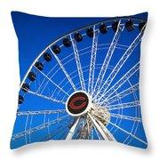 Chicago Centennial Ferris Wheel Throw Pillow