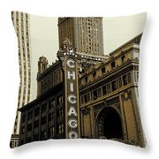 Chicago Cinema Theater - Vintage Photo Art Throw Pillow