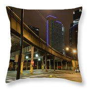 Chicago City Streets Throw Pillow