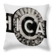Chicago Theater Marquee - T-shirt Throw Pillow