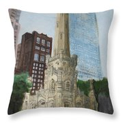 Chicago Water Tower 1a Throw Pillow