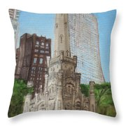 Chicago Water Tower 1c Throw Pillow