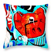 Chicken And Egg Throw Pillow
