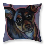 chihuahua Wow Wow Throw Pillow