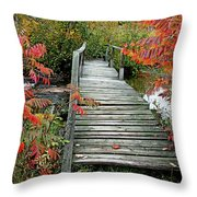 Chikanishing River Bridge Throw Pillow
