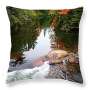 Chikanishing River In Autumn Throw Pillow