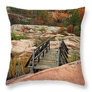 Chikanishing Trail Boardwalk II Throw Pillow