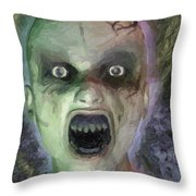 Child Ghost Throw Pillow