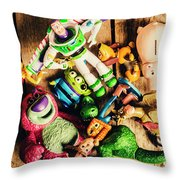 Childhood Collectibles Throw Pillow