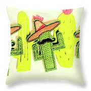 Chili Con Cacti Throw Pillow