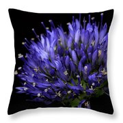 Chives Flower Throw Pillow