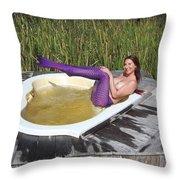 Chokoloskee Mermaid 0552 Throw Pillow