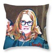 Christine Blasey Ford Testifies Before Senate Throw Pillow