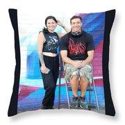 Chris And Alek All Smiles Throw Pillow