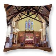 Christ Episcopal Interior Throw Pillow