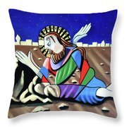 Christ Will Come Again Throw Pillow by Anthony Falbo