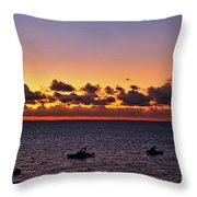 Christmas Morning Sunrise Throw Pillow by Jeremy Hayden