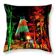 Christmas Red And Green Throw Pillow