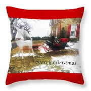 Christmas Sleigh Throw Pillow