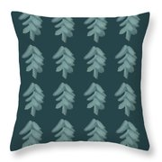 Christmas Tree Pattern Throw Pillow
