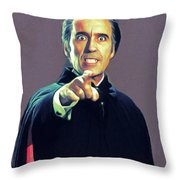 Christopher Lee As Dracula Throw Pillow