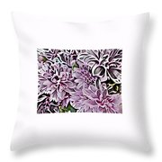 Chrysanthemum Abstract. Throw Pillow
