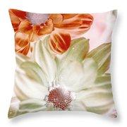 Chrysanthemum Creativity Throw Pillow