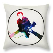 Chuck Berry Watercolor Throw Pillow