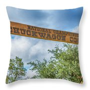 Chuckwagon Cookoff Throw Pillow