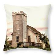 Church In Bowman North Dakota Throw Pillow
