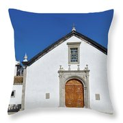 Church Of Cacela Velha In Portugal Throw Pillow