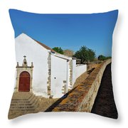 Church Of Misericordia In Medieval Castle Throw Pillow