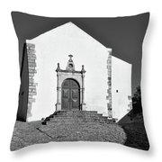 Church Of Misericordia In Monochrome Throw Pillow