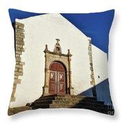 Church Of Misericordia. Portugal Throw Pillow