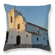 Church Of Querenca In Loule. Portugal Throw Pillow