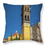 Church Of San Francisco In Puebla Throw Pillow