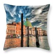 Church Of San Simeone Piccolo, Venice Throw Pillow