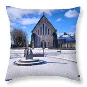 Church Of The Assumption, Mooncoin  Throw Pillow