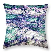 Churning Surf Throw Pillow