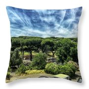 Cielo E Pineas Throw Pillow