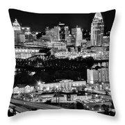 Cincinnati Covington And Ohio River Throw Pillow
