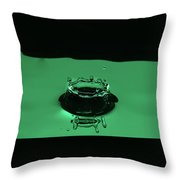 Circle Water Dance Green Throw Pillow