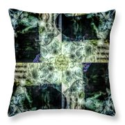 Circling Around Center Throw Pillow