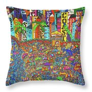 City Meets The Bay Throw Pillow